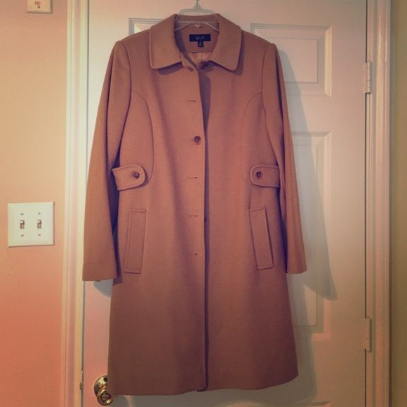 Peacoat from Dillard's Beige peacoat. 100% Wool, satin lining. Dry clean only. Worn a few times. Practically new. Jackets & Coats Pea Coats