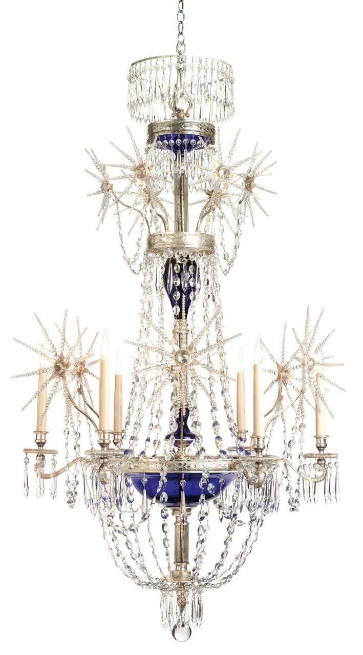cox london starburst bristol blue glass chandelier with. Black Bedroom Furniture Sets. Home Design Ideas