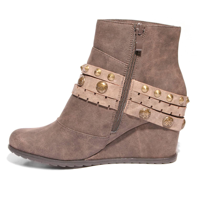10e3da52c7bd 2 Lips Too Too Nancy Women s Wedge Ankle Boots  Women