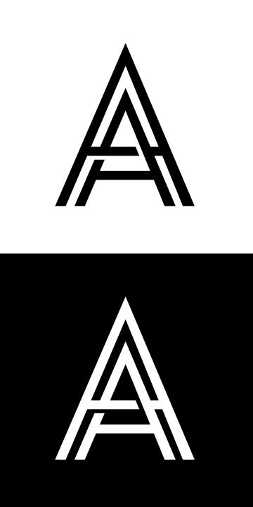 Drop Cap Art A A Initial Logo Personal Logo By A3 Design Typographic Logo Design Graphic Design Logo Text Logo Design