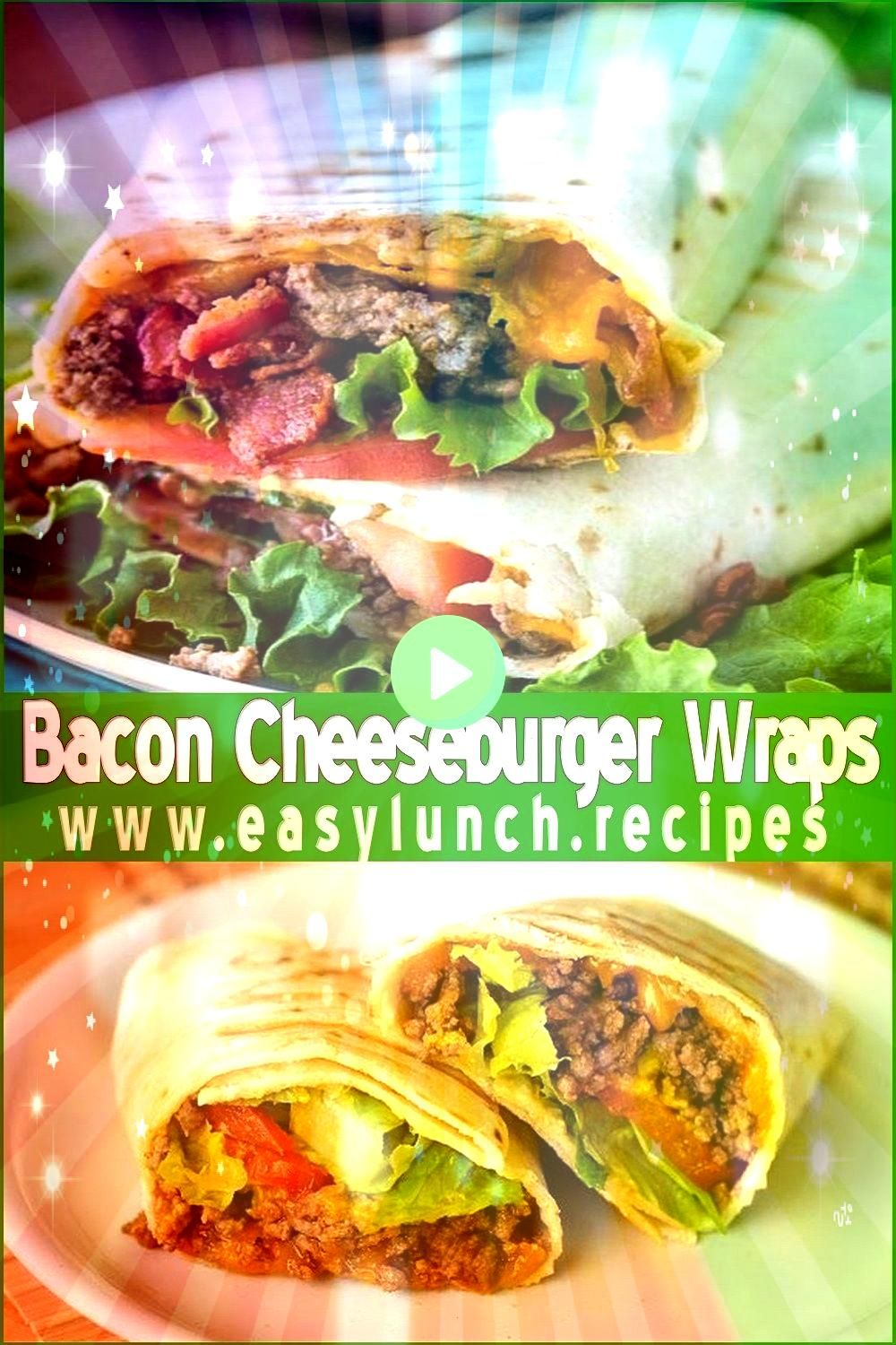 Cheeseburger Wraps Recipe Delicious bacon cheeseburgers in a place This may be a meal the grouped family is sure to loveDelicious bacon cheeseburgers in a place This may...