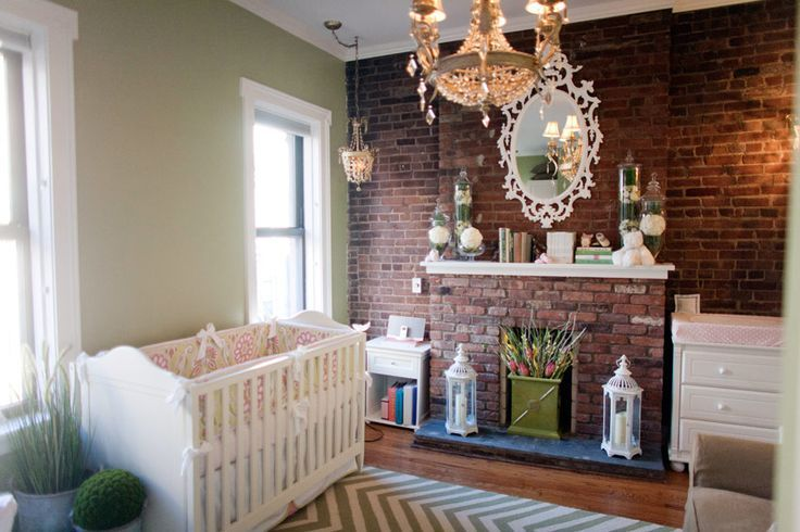 brick wall baby nursery Google Search Brick interior