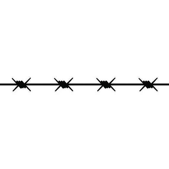 Barbed wire straight barb fence fencing jail western
