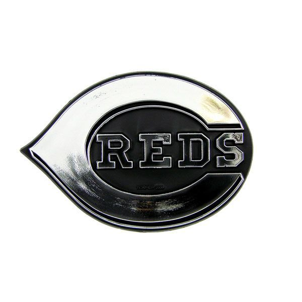 Cincinnati Reds Die Cut Silver Auto Emblem