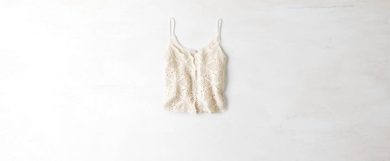AEO Crocheted Button Cami