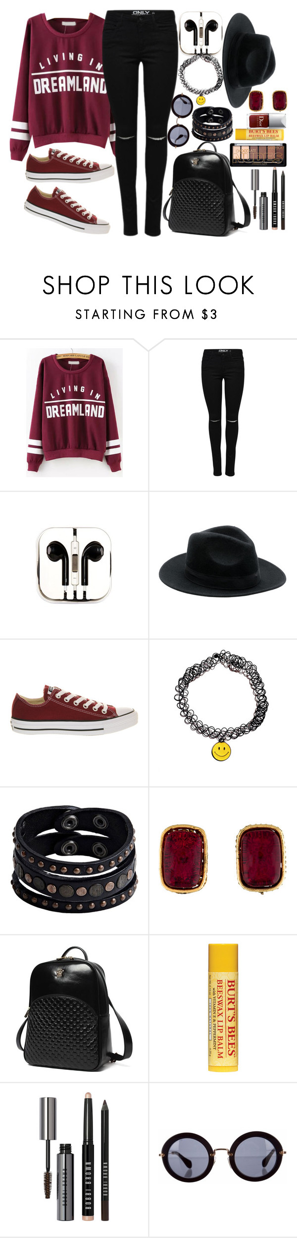 """""""Happily Never After"""" by geekyravenclaw ❤ liked on Polyvore featuring moda, PhunkeeTree, Converse, Replay, Chanel, Princess Carousel, Bobbi Brown Cosmetics y Miu Miu"""
