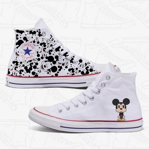Mickey Mouse Converse | Converse shoes womens, Mickey shoes