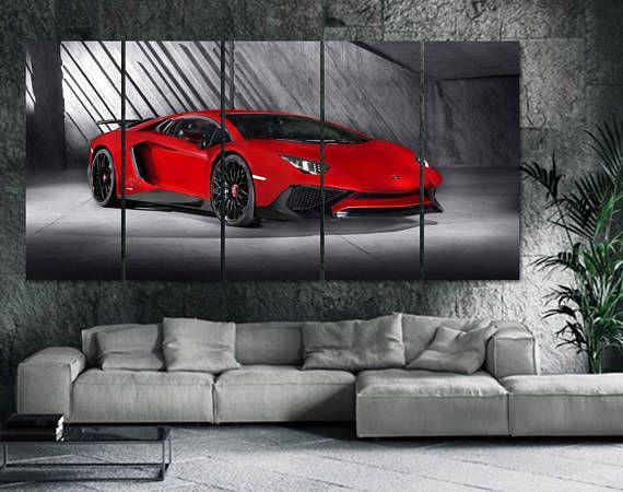 Lamborghini Car Canvas Print - Framed Extra Large Motor Wall Art ...