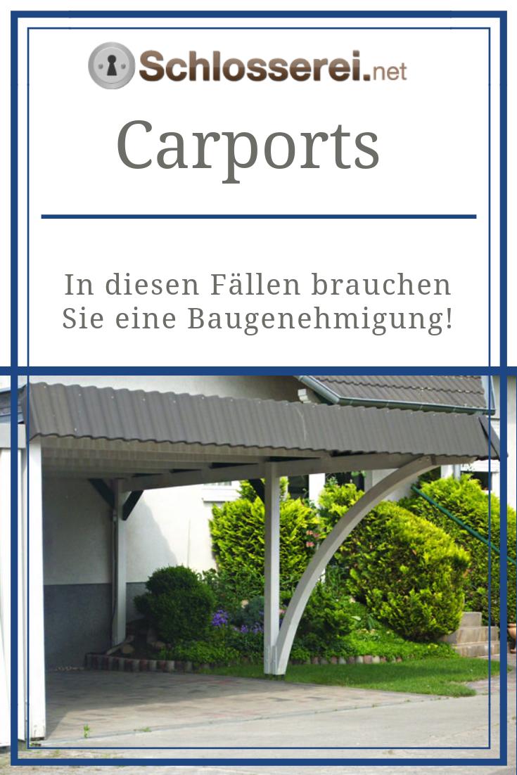 Wann muss der Bau des Carports genehmigt werden
