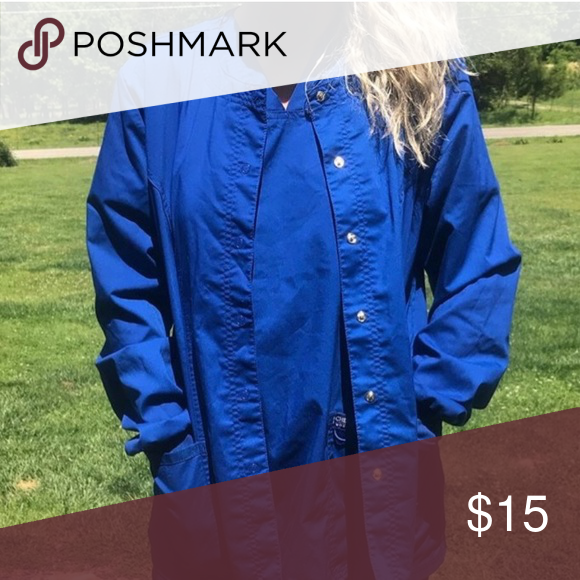 Galaxy blue Cherokee scrub jacket | Scrub jackets ...