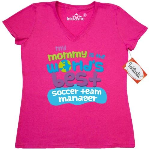 baecd6fcc Inktastic Soccer Team Manager Gifts For Kids Women's V-Neck T-Shirt  Auditing Clothing Apparel Clothes Occupation Job Cute Tees Adult Hws, Size:  Small, ...