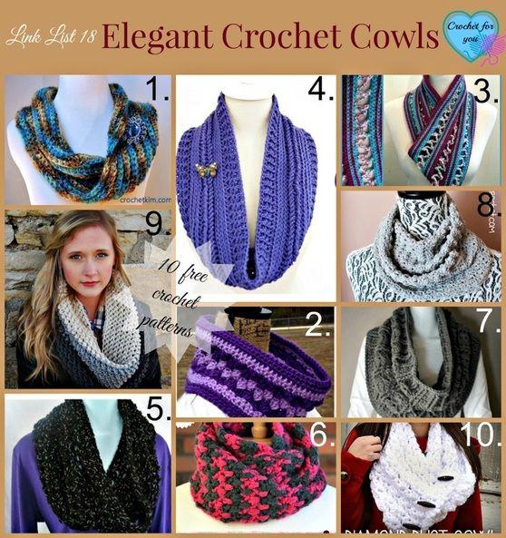 Elegant crochet cowls - free pattern link list 18. | Scarf ...