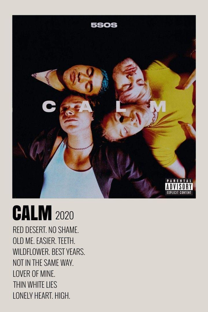 5sos Calm Minimalist Album Poster In 2020 Music Poster Design Minimalist Music Music Album Cover