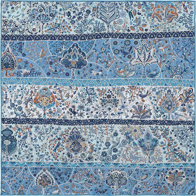 Hermes silk twill pocket square, 18   scarves   Pinterest   Silk and ... 0170f384b10