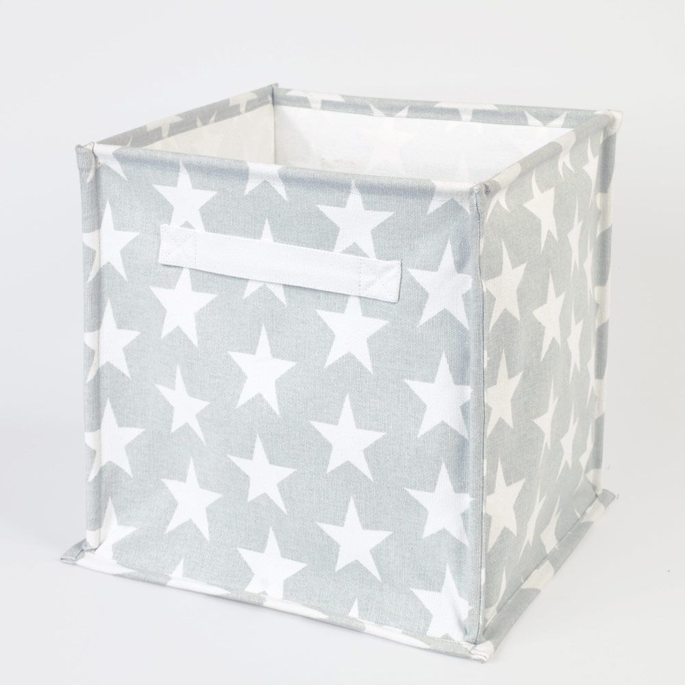 f6b85298b7cc One of our favourite storage solutions, these simple canvas storage cubes  come in a glorious array of designs.
