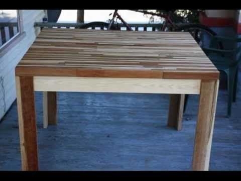 C mo hacer una mesa con retazos de madera trabajos - Como hacer una mesa de comedor ...