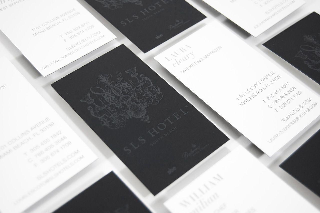 sls hotel business card emboss luxury   Branding   Pinterest ...