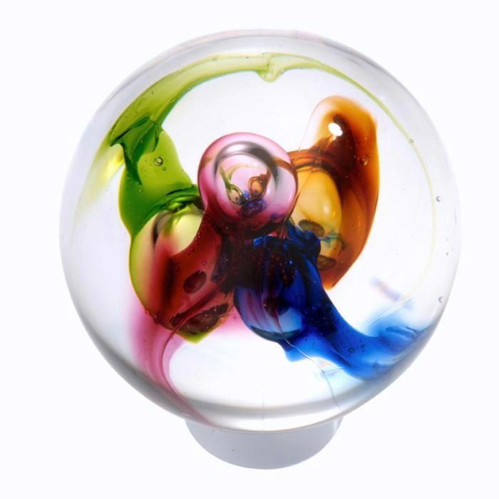 With pure pigments bleeding into hand-blown glass, this door knob is ...
