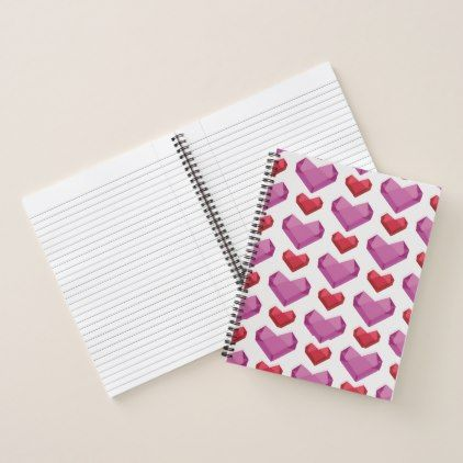 Heart Notebook - sample notebook paper