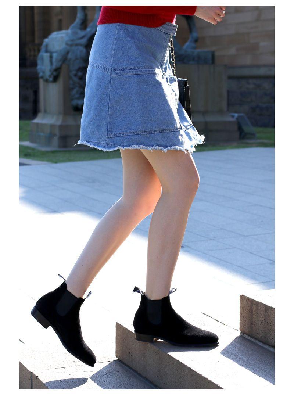 ce6f004ee77 SYDNEY FASHION BLOG Karen Walker denim skirt and RM Williams black ...