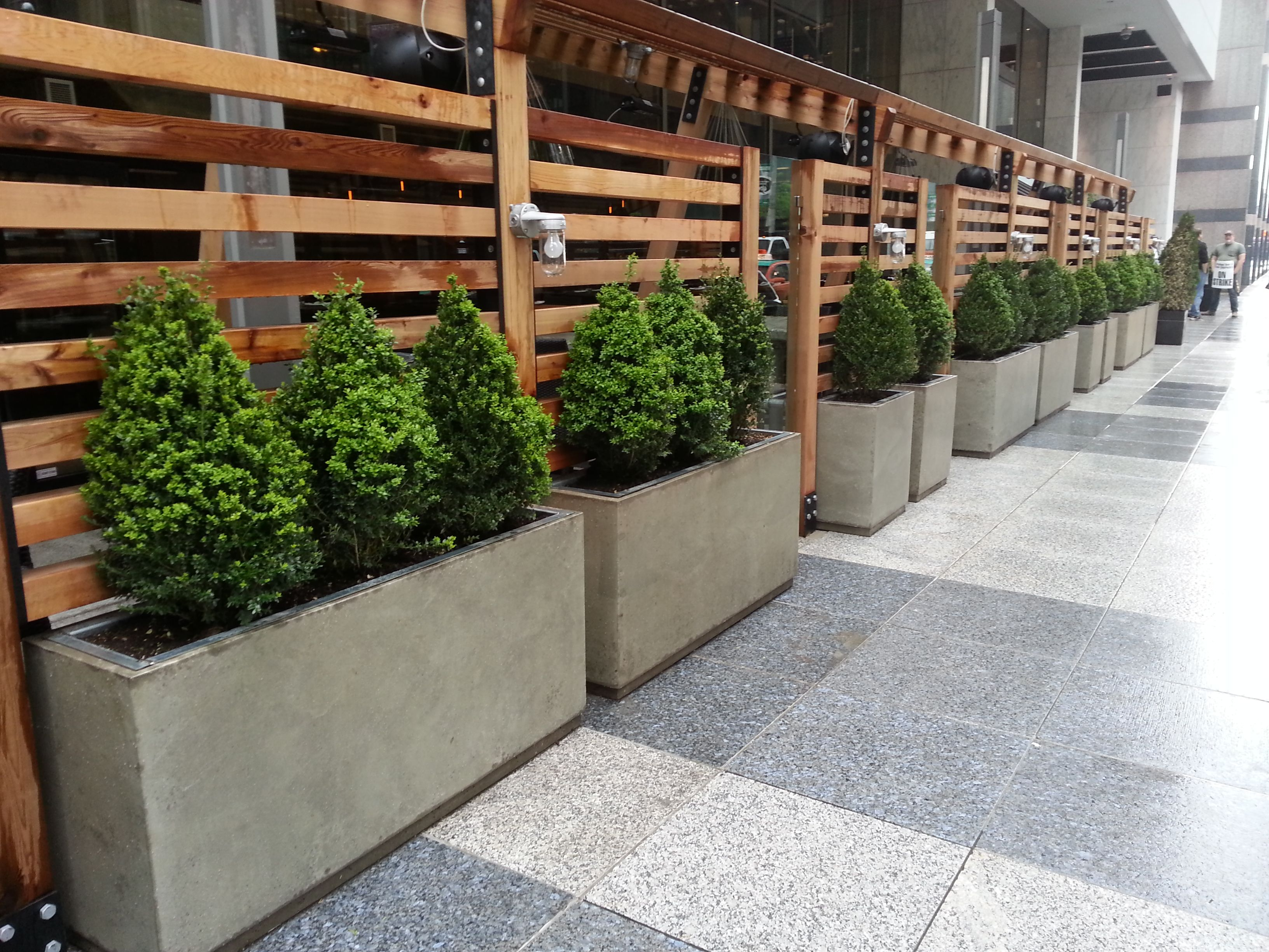 planters Concrete patio planters with galvanized inserts ...