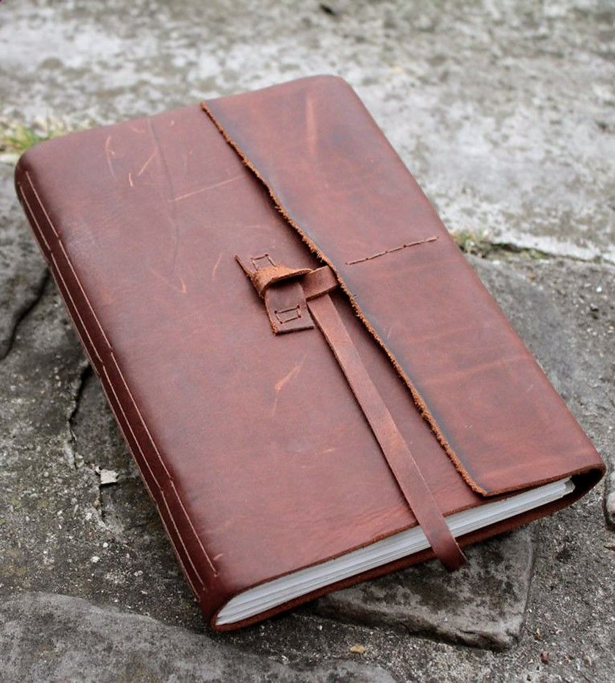 The Wanderer Brown Leather Journal by Delicate Utility on Scoutmob Shoppe. Fashioned by hand with chocolate-y brown leather.