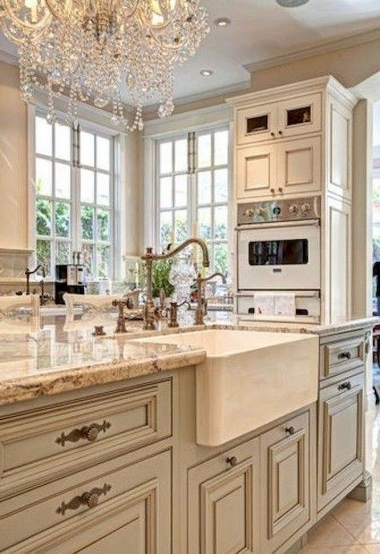 68 Top Modern Farmhouse Kitchen Sink Ideas Country Kitchen Cabinets Country Kitchen Decor French Country Decorating Kitchen French provincial kitchen decorating ideas