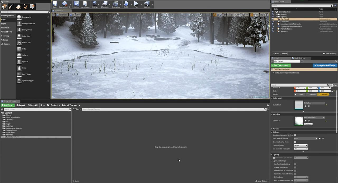 Creating Ice and Snow in Megascans Studio and Unreal Engine 4