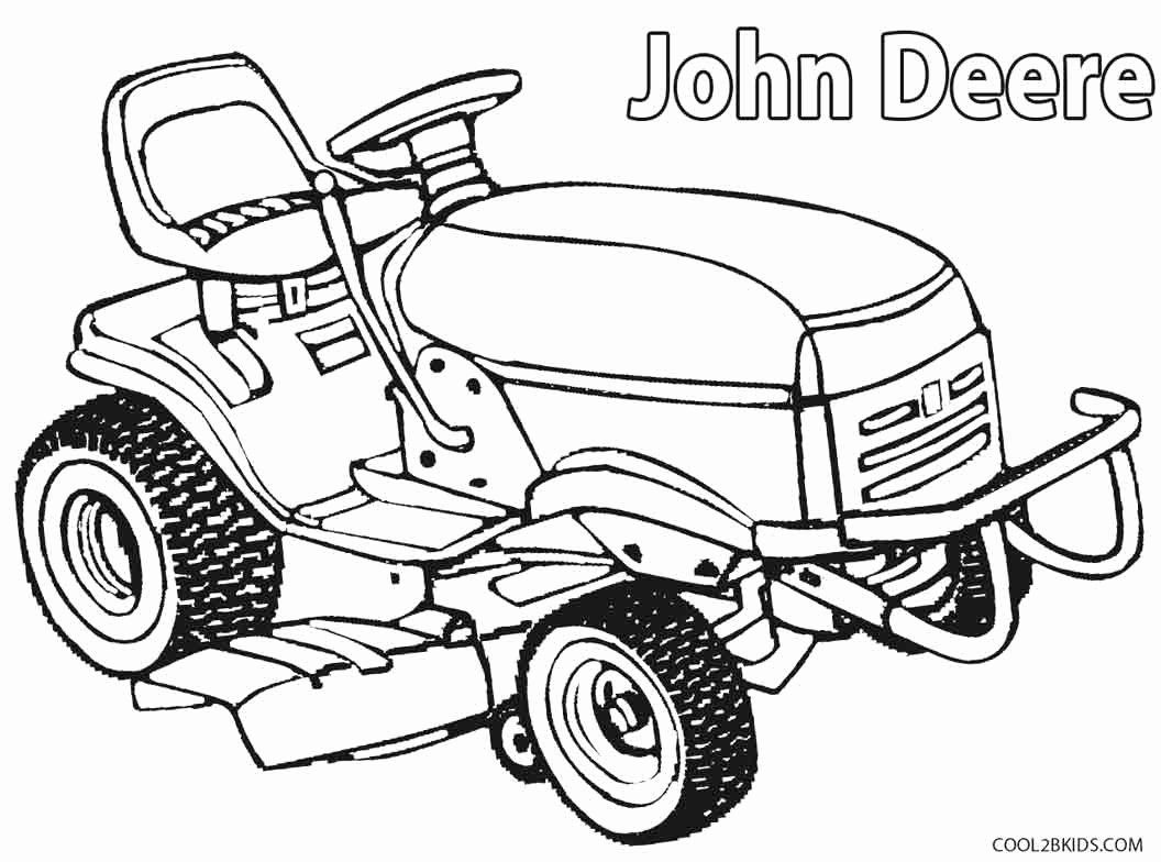24 Lawn Mower Coloring Page In