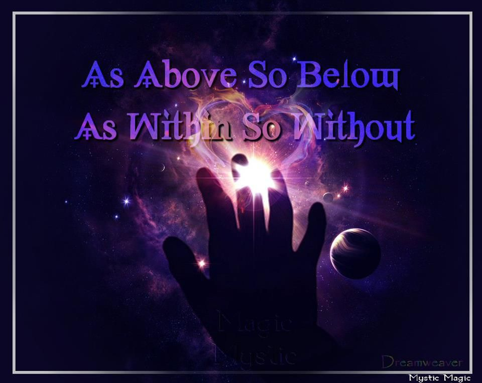 as above so below, as within so without