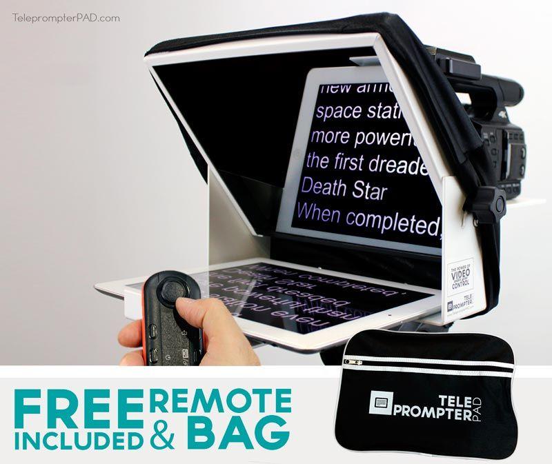 Pack Teleprompter 10'' White + Remote + Transport bag