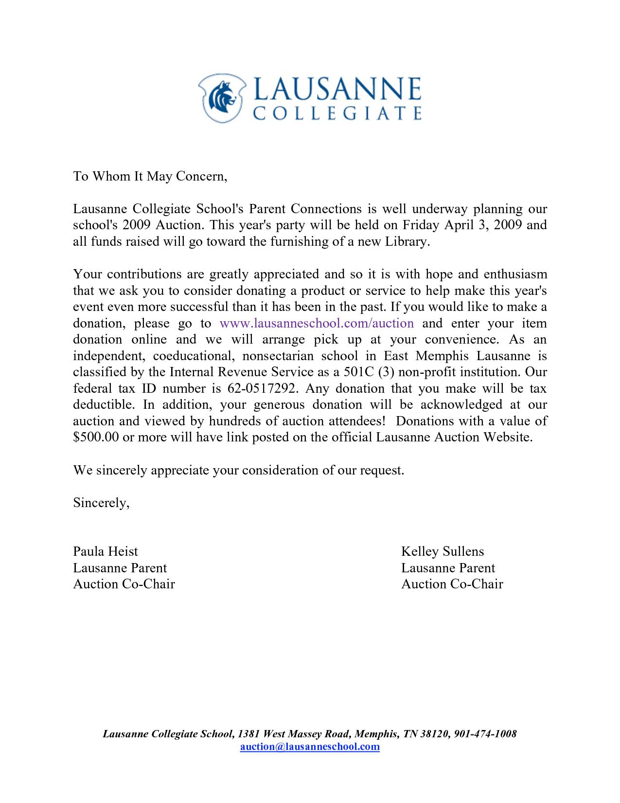 business donation request letter art chainimage template