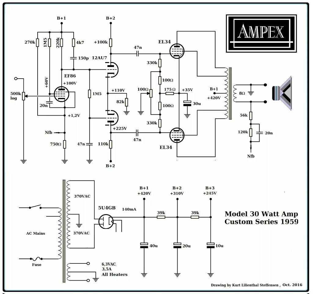 medium resolution of ampex el34