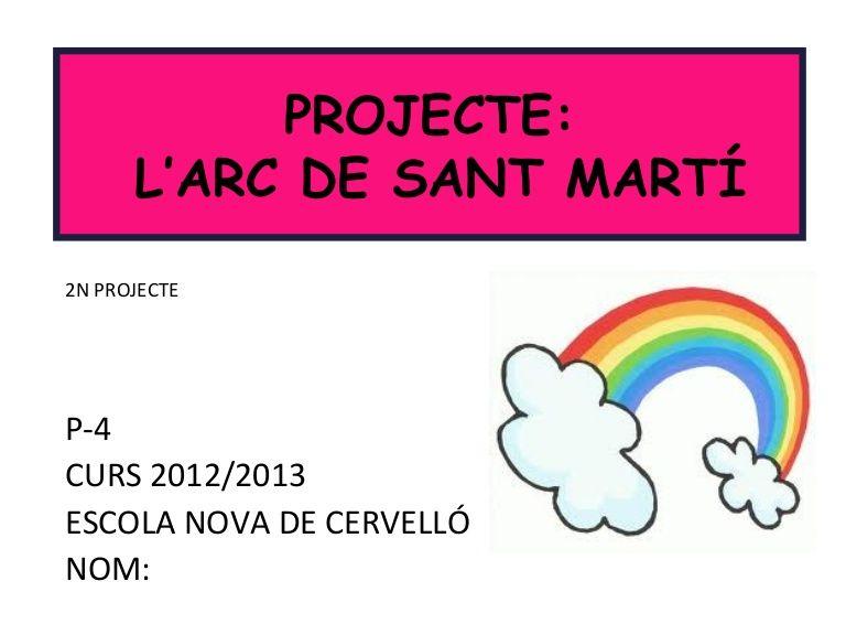 P 4 Curs 2012 2013 Escola Nova De Cervelló Nom Projecte L Arc De Sant Martí 2n Projecte Arc Marti Power