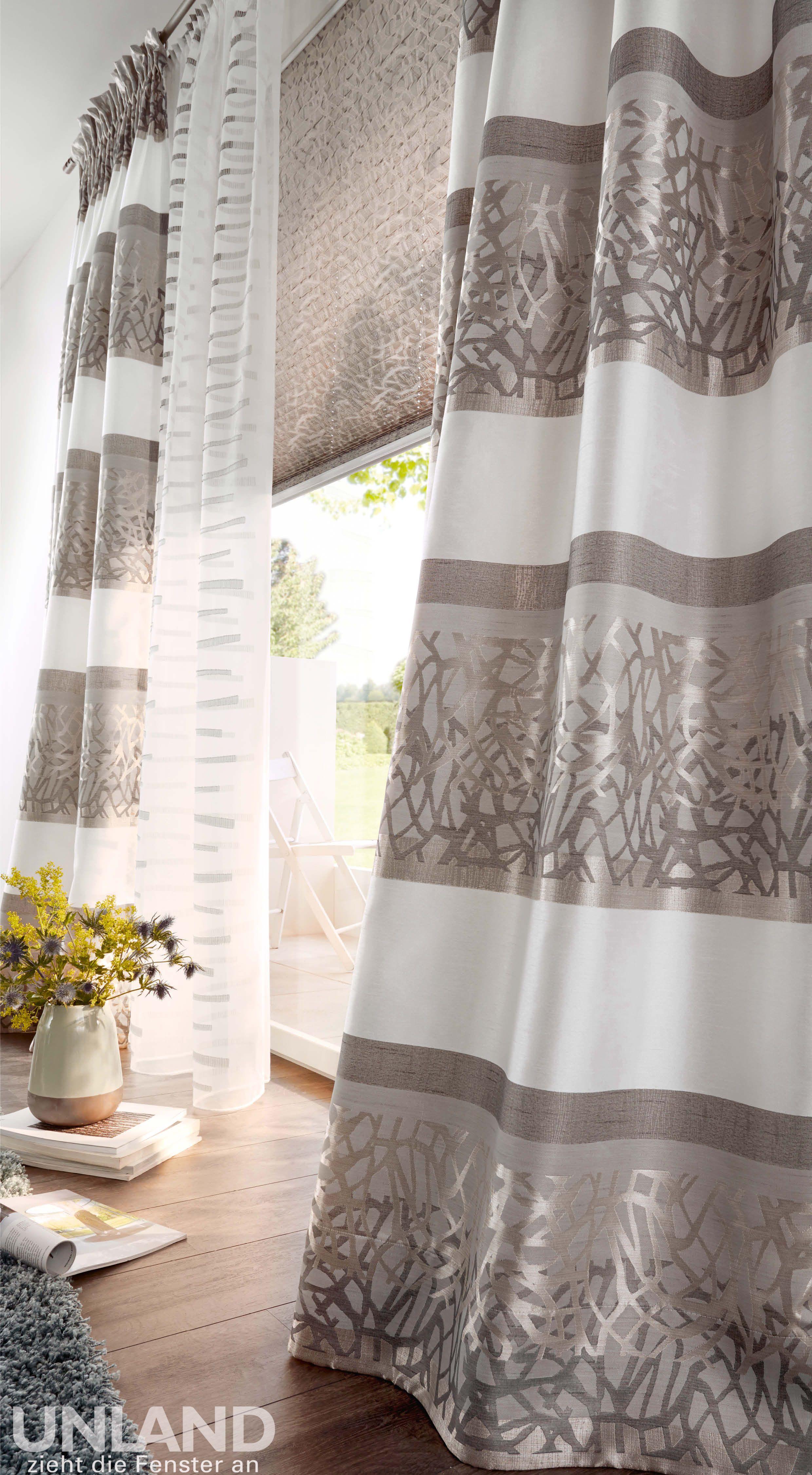 gardinen wohnzimmer doppelfenster : Unland Casa Vorhang Fensterideen Gardinen Und Sonnenschutz