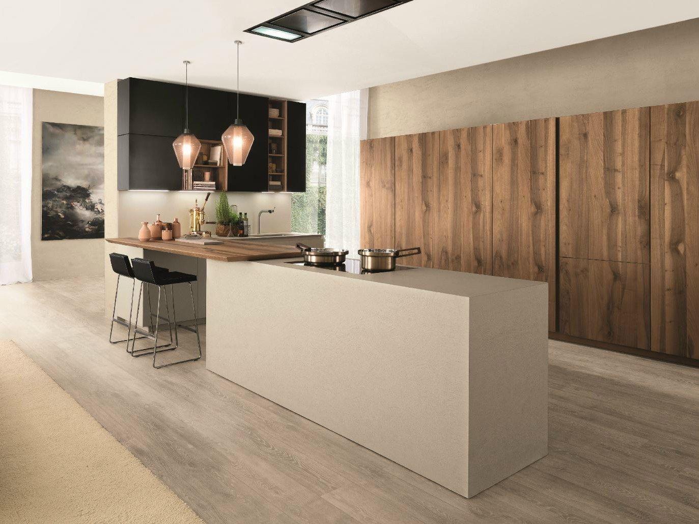 Fitted Kitchen With Island Filoantis By Euromobil Design Roberto Gobbo 現代的なキッチン キッチンデザイン 素朴なキッチン