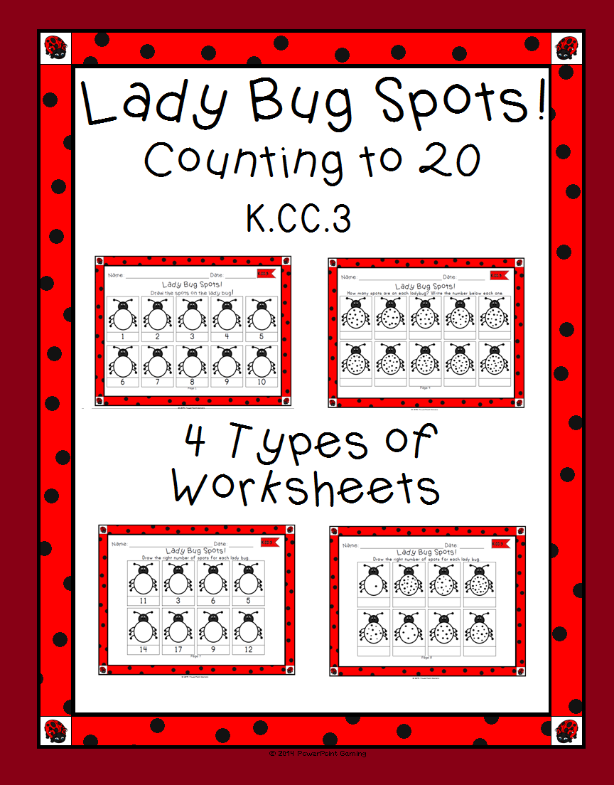 Predownload: Counting To 20 With Happy Bugs Coloring Activity Counting To 20 Math Materials Math Resources [ 1104 x 864 Pixel ]