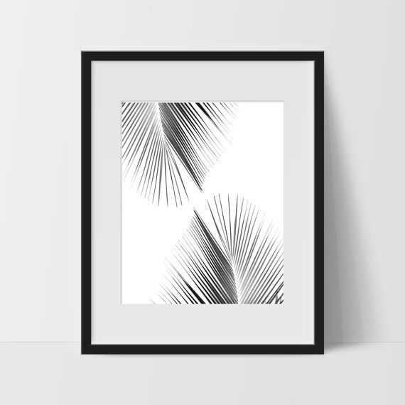 Palm Tree Wall Art 2 Tropical Monochromatic Art Minimalist Prints For The Home Palm Tree Wall Art Monochromatic Art Digital Art Prints
