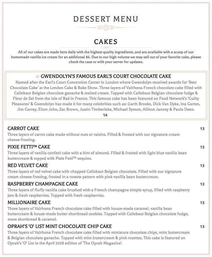 Carmel menu the cake bake shop in 2020 homemade