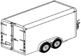 12CC 12'x6' Covered Cargo Trailer DIY Master Plans in 2020