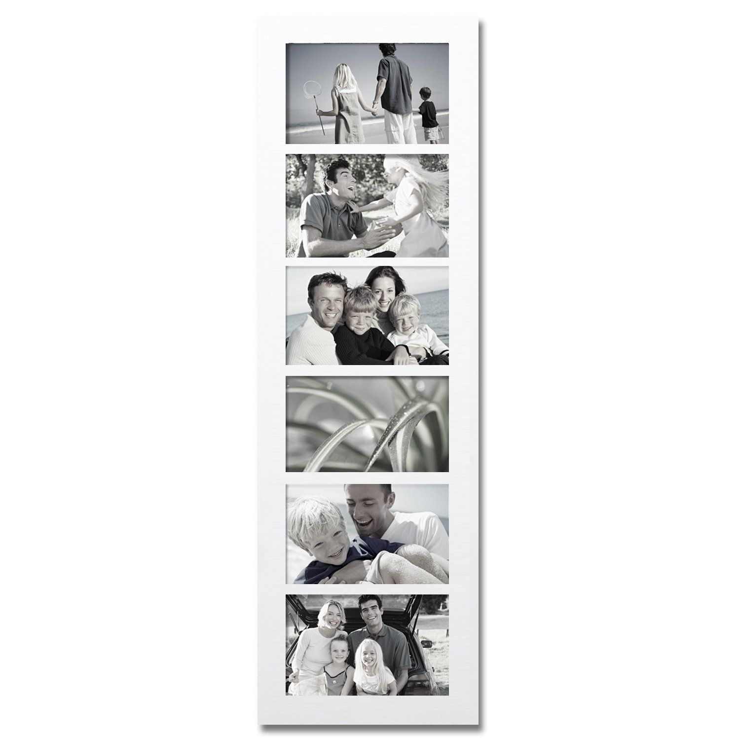 Adeco Decorative White Wood Wall Hanging Collage Picture Photo Frame ...