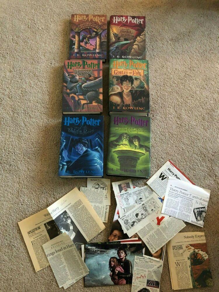 Harry potter hardcover book set 16 american us 1st ed