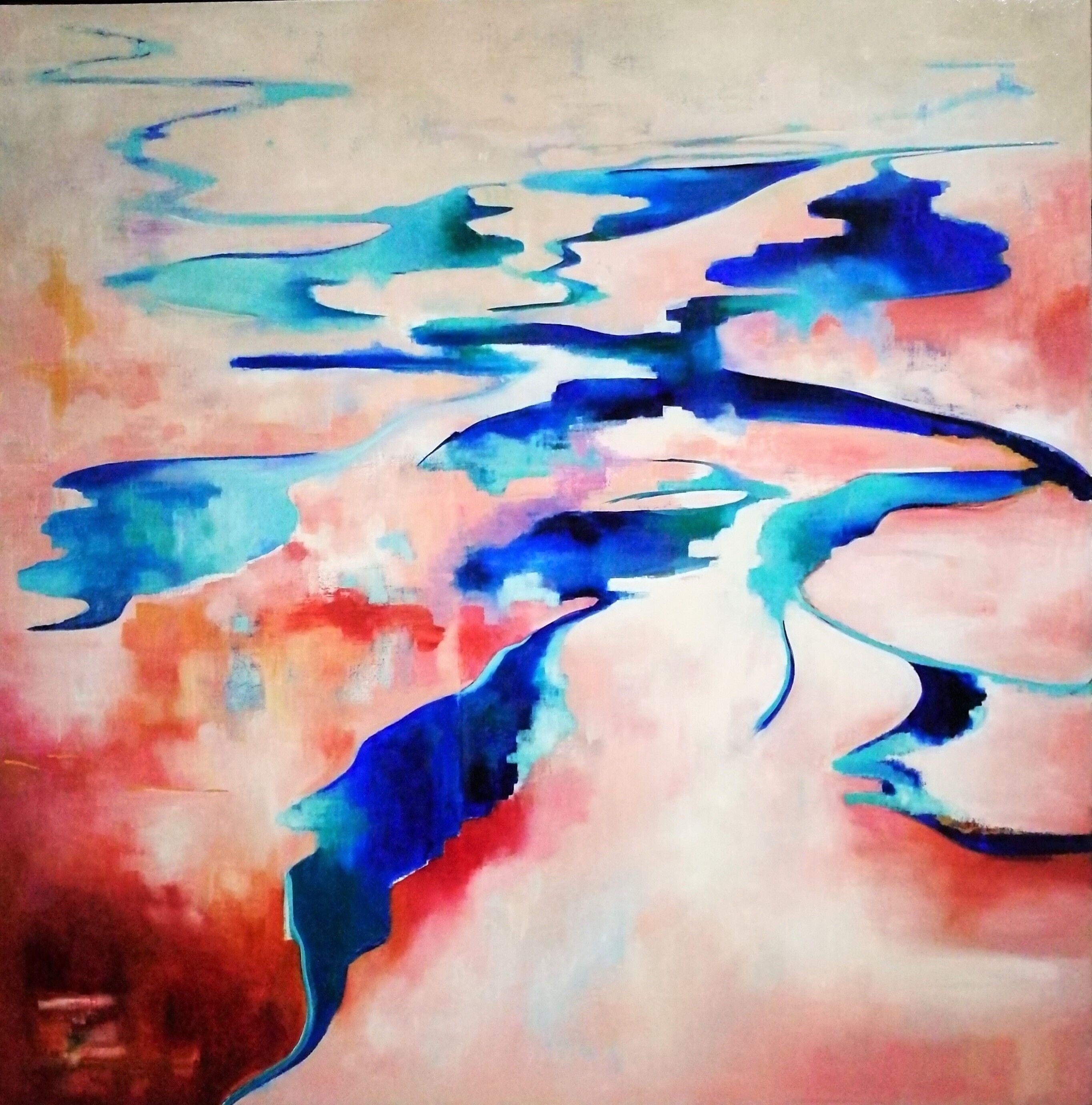 Lake Macleod Gnaraloo By Cindy Glyde Paintings For Sale