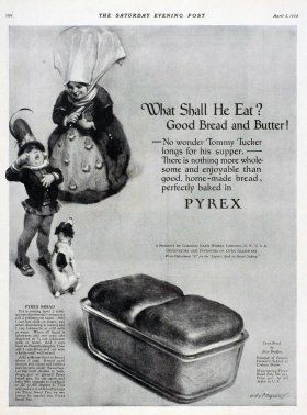 What shall he eat? Good bread and butter! [advertisement]. | Corning Museum of Glass