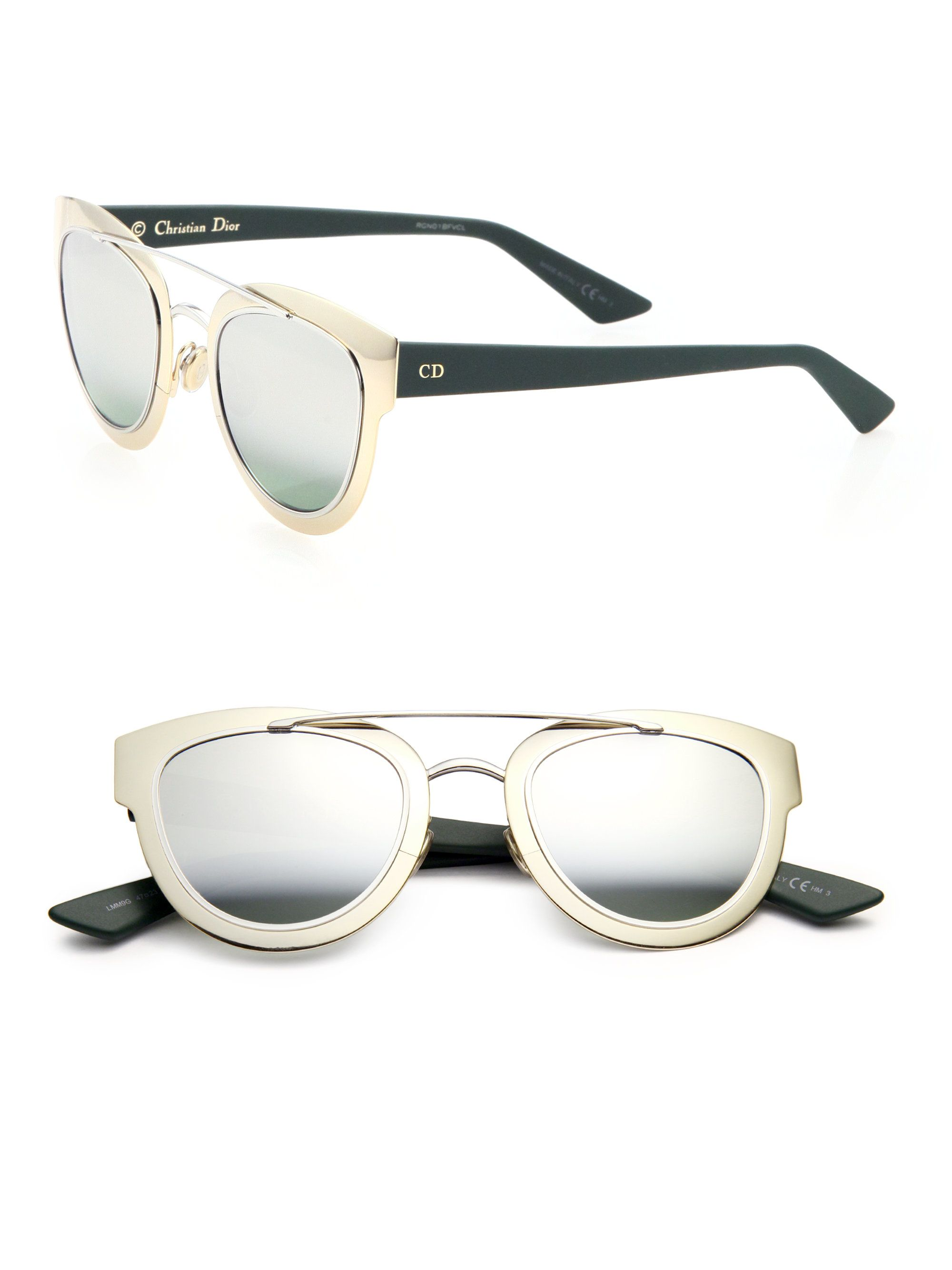 fc517c7b40 Dior Chromic 47mm Cat s-eye Sunglasses in Gold (gold-green ...