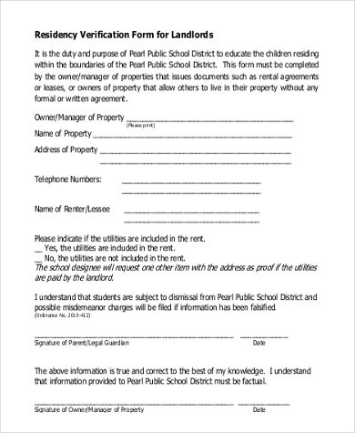proof residency template form certification letter this sample - will form