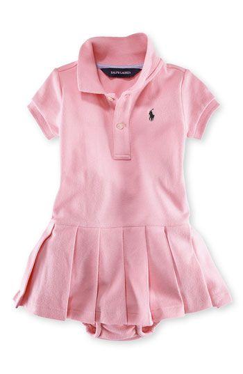 8b589627 Ralph Lauren Solid Polo Dress (Baby Girls) | Nordstrom | LITTLE ...