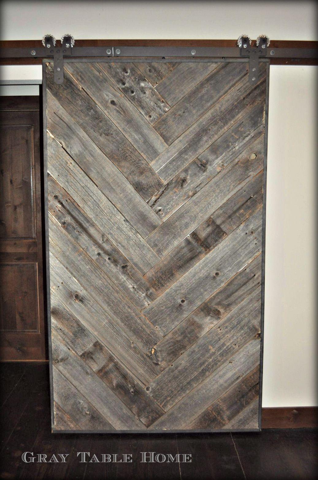 Past Project Herringbone Barn Door Crafts Pinterest