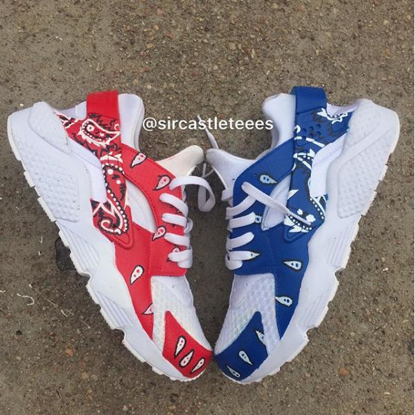 7f5a9d456 Bandana Huarache | Uniquee in 2019 | Huaraches shoes, Nike shoes ...