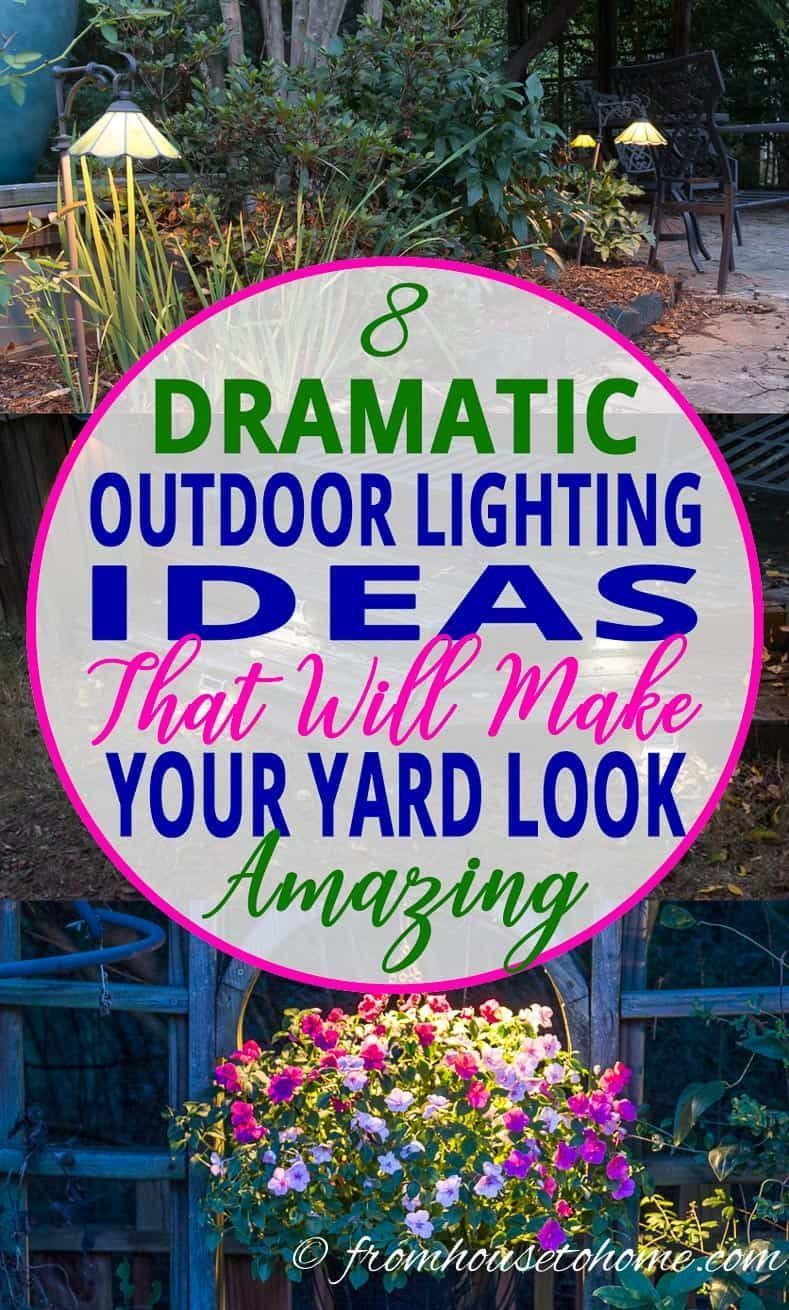 Garden landscape night  Outdoor lighting can transform your yard into a magical paradise at